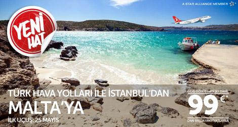 THY İstanbul'dan Malta'ya Uçuyor