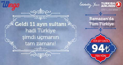 THY ile Ramazan'da Tüm Türkiye 94 TL