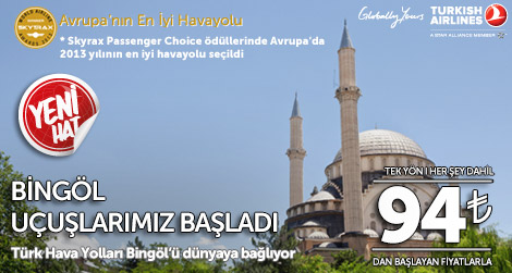 Türk Hava Yolları Bingöl Seferleri Başladı